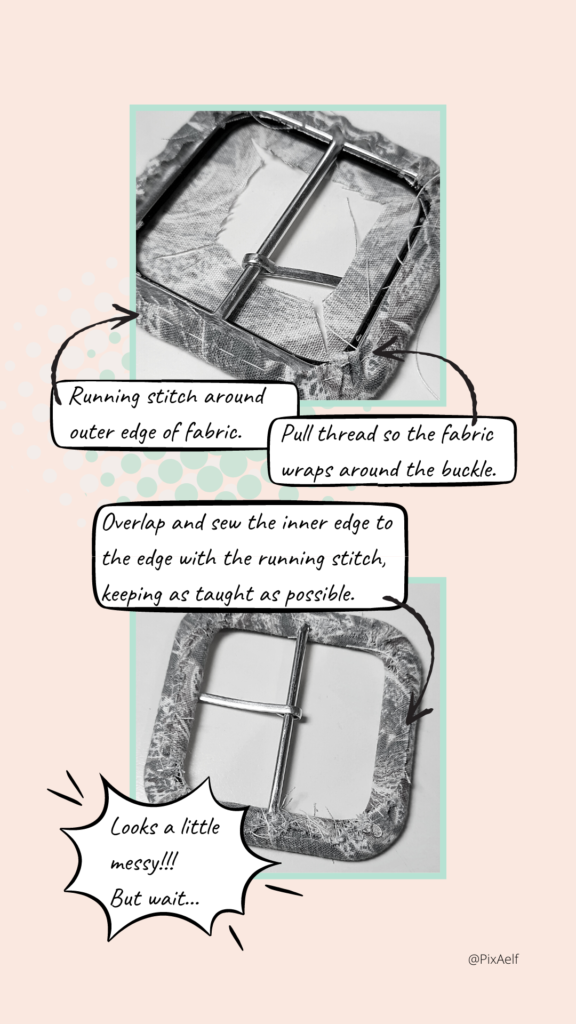 Covered belt buckle instructions - 2